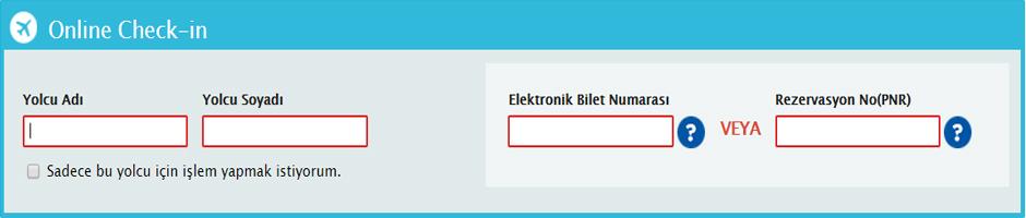 Online Check-in; biletlenmiþ rezervasyonu olan tüm yolcularýmýzýn havaalanýna gelmeden internet üzerinden check-in yapabilmelerini saðlayan bir hizmettir. Bu hizmetle beraber yolcularýmýza, uçuþlarýnýn 24 saat öncesinden baþlayarak, 90 dakika kalýncaya kadar internet üzerinden, check-in iþlemlerini bizzat yapma olanaðý verilmektedir.
